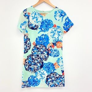 J Crew | Mint Floral Mini Shift Dress Lined